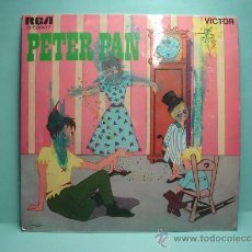 Discos de vinilo: PETER PAN (CUENTO) EP. RCA VICTOR. TORRE MADRID. AÑO 1967. NARRADO POR EVANGELINA SALAZAR. Lote 32605363