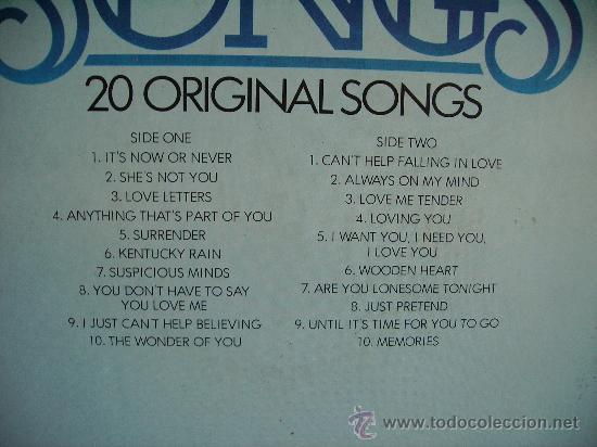 Discos de vinilo: ELVIS PRESLEY ---- LOVE SONGS - Foto 2 - 32614487