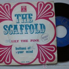 Discos de vinilo: THE SCAFFOLD, LILY THE PINK, SINGLE 7 EMI SPAIN 1968, EXCELENTE VER SEÑALES EN FOTO . Lote 32615910