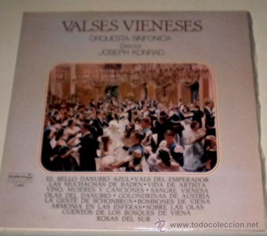 VALSES VIENESES ORQUESTA SINFÓNICA DIRECTOR JOSEPH KONRAD - DURIUM 1.978 (Música - Discos - LP Vinilo - Clásica, Ópera, Zarzuela y Marchas)