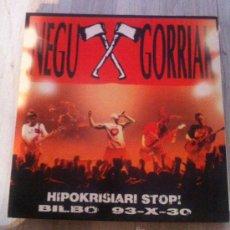 Discos de vinilo: DISCO LP VINILO NEGU GORRIAK HIPOKRISIARI STOP! BILBO ESAN OZENKI PUNK ROCK. Lote 32634948