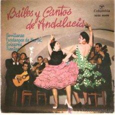 Discos de vinilo: BAILES Y CANTOS DE ANDALUCIA. Lote 32656553