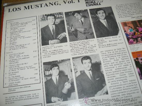 Discos de vinilo: MUSICA GOYO - LP - MUSTANG, LOS... - POP ROCK - 1ª EDICION COCODRILO -*BB99 - Foto 2 - 104967178