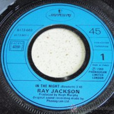 Discos de vinilo: RAY JACKSON ( IN THE NIGHT - WAITING FOR THE TIME ) 1980 - FRANCE SINGLE45 MERCURY . Lote 32675085
