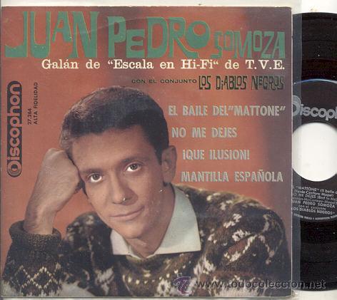 EP 45 RPM / JUAN PEDRO SOMOZA CON LOS DIABLOS NEGROS ( BEATLES) BAT TO ME // EDITADO DISCOPHON 1963 (Música - Discos - Singles Vinilo - Solistas Españoles de los 50 y 60)