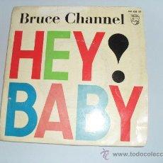 Discos de vinilo: BRUCE CHANNEL - HEY BABY + 3 EP 1962 - DISCO DE COLOR AZUL. Lote 32679476