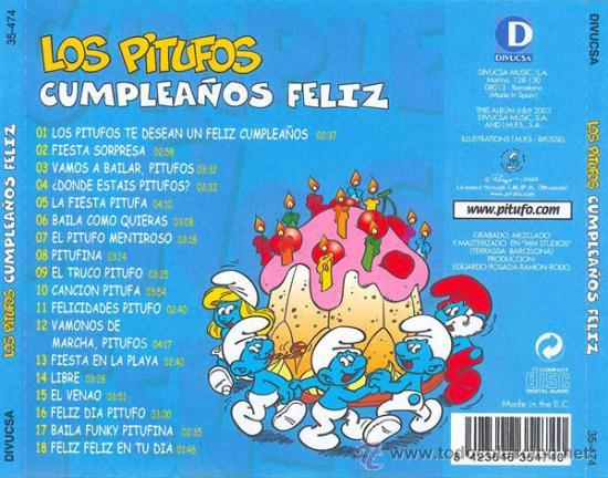 Los Pitufos Te Desean Cumpleaños Feliz Cd En E Vendido En Venta Directa 32700666