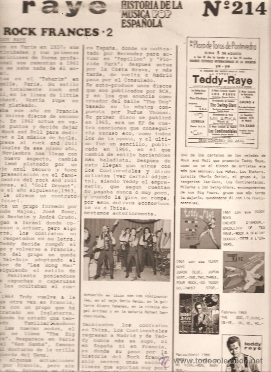 Discos de vinilo: LP TEDDY RAYE : HISTORIA DEL ROCK FRANCES -2 - Foto 2 - 32703852