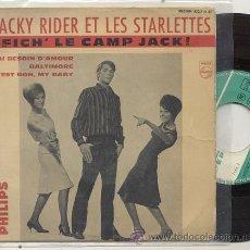 Discos de vinilo: EP 45 RPM / JACKY RIDER ET LES STARLETTES / FICH LE CAMP JACK // EDITADO PHILIPS. Lote 32711736