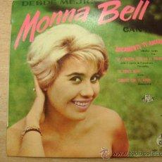 Discos de vinilo: MONNA BELL LOCAMENTE TE AMARE + 3 EP HISPAVOX 1960. Lote 32724589