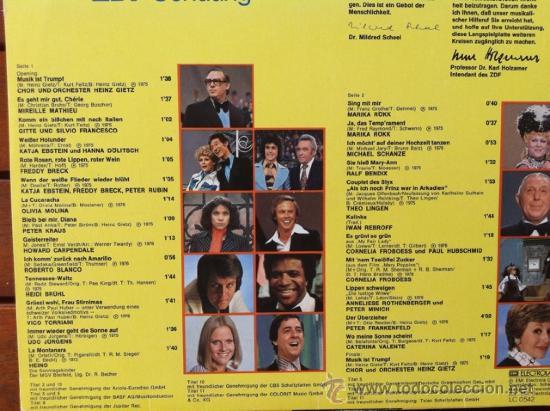 """Discos de vinilo: Die Großen Schlager Aus """"Musik Ist Trumpf"""" - GRANDES EXITOS DE LOS 70 . LP . 1978 EMI GERMANY - Foto 2 - 32734357"""