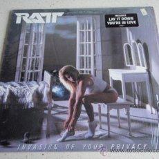 Discos de vinilo: RATT ( INVASION OF YOUR PRIVACY ) USA - 1985 LP33 ATLANTIC. Lote 47045608