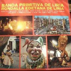 Discos de vinilo: BANDA PRIMITIVA DE LIRIA / RONDALLA EDETANA DE LIRIA ( 1968 ) PORTADA CON FOTOS DE FALLAS. Lote 32764812