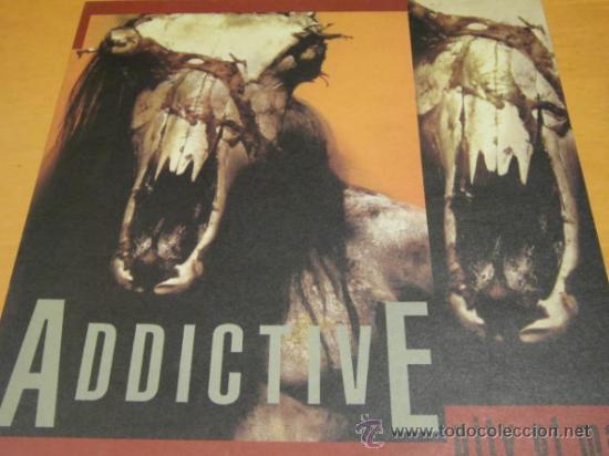 ADDICTIVE - PITY OF MAN - LP - RATTLESNAKE 1990 GERMANY - LETRAS - SPEED METAL - N MINT (Música - Discos - LP Vinilo - Heavy - Metal)