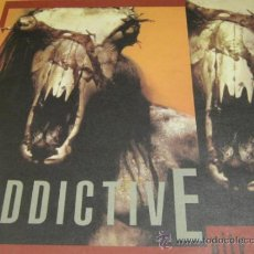 Discos de vinilo: ADDICTIVE - PITY OF MAN - LP - RATTLESNAKE 1990 GERMANY - LETRAS - SPEED METAL - N MINT. Lote 32758149