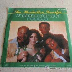 Discos de vinilo: THE MANHATTAN TRANSFER ( CHANSON D'AMOUR - HELPLESS ) 1976-GERMANY SINGLE45 ATLANTIC . Lote 32777908