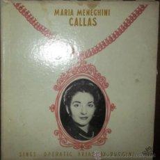 Discos de vinilo: LP DE MARIA MENEGHINI CALLAS AÑO 1954 EDICIÓN URUGUAYA. Lote 32786433