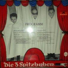 Discos de vinilo: LP DE DIE 3 SPITZBUBEN AÑO 1968 EDICIÓN AUSTRÍACA. Lote 32787843