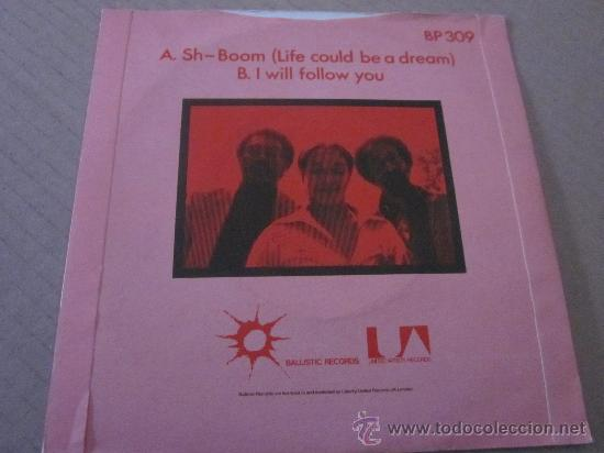 Discos de vinilo: THE MARVELS - SH BOOM(LIFE COULD BE A DREAM) - MADE IN UK IN 1979. - Foto 2 - 32792079