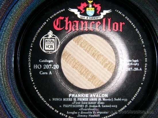 Discos de vinilo: FRANKIE AVALON / First love never dies / Heartheats / My ex-gest friend / Cleopatra (EP 63) - Foto 2 - 32796983