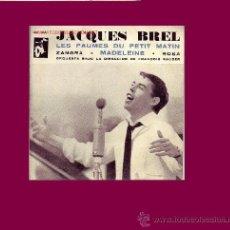 Discos de vinilo: JACQUES BREL DISCO EP ESPAÑOL 1962. Lote 11582351