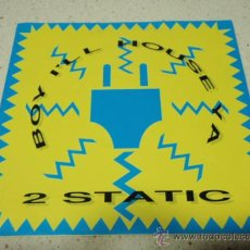 Disques de vinyle: 2 STATIC ( BOY, I'LL HOUSE YA - LOOKING FOR TROUBLE ) 1990 SINGLE45 DURECO. Lote 32809894