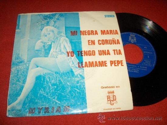 """FANTASIA Y NARBO & MYRIAM MI NEGRA MARIA / LLAMAME PEPE ..+2 7"""" EP 1973 BCD PROMO (Música - Discos de Vinilo - EPs - Grupos Españoles de los 70 y 80)"""