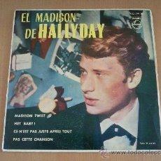 Discos de vinilo: JOHNNY HALLYDAY – EL MADISON DE HALLYDAY – EP SPAIN 1962 – PHILIPS. Lote 32827433