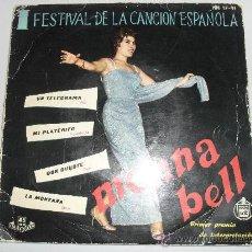 Discos de vinilo: MONNA BELL - UN TELEGRAMA + 3 EP 1959. Lote 32851636