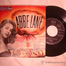 Discos de vinilo: ANTIGUO DISCO SINGLE ORIGINAL ABBE LANE Y ORQUESTA - QUE SERA SERA ..... . Lote 32856548