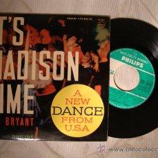Discos de vinilo: ANTIGUO DISCO SINGLE ORIGINAL RAY BRYANT - ITS MADISON TIME/ PHILLIPS. Lote 32856551