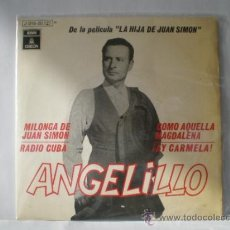 Discos de vinilo: SINGLE DE ANGELILLO AÑOS 60. Lote 32883328