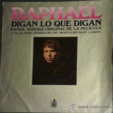 Discos de vinilo: EP RAPHAEL DIGAN LO QUE DIGAN, BANDA SONORA ORIGINAL DE LA PELICULA.HISPAVOX 1969. Lote 32884257