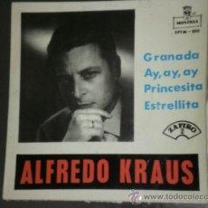 Discos de vinilo: EP ALFREDO KRAUS GRANADA. MONTILLA 1959. Lote 32884499