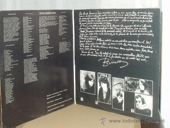 Discos de vinilo: BRINCOS LP MUNDO, DEMONIO, CARNE PROGRESIVO ORIGINAL MUY RARO - Foto 3 - 32904040