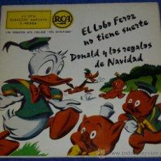 Discos de vinilo: DONALD - RCA - WALT DISNEY - 1958 - CUENTO PARA LEER Y ESCUCHAR. Lote 32904289