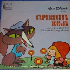 Discos de vinilo: CAPERUCITA ROJA - HISPAVOX - WALT DISNEY - 1971 - CUENTO PARA LEER Y ESCUCHAR. Lote 32904603