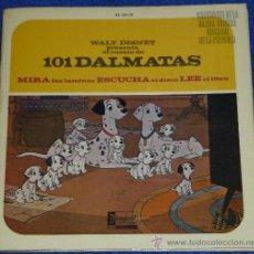 Discos de vinilo: 101 DÁLMATAS - HISPAVOX - WALT DISNEY - 1968 - CUENTO PARA LEER Y ESCUCHAR. Lote 32904621