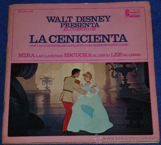 LA CENICIENTA - HISPAVOX - WALT DISNEY - 1967 - CUENTO PARA LEER Y ESCUCHAR (Música - Discos - Singles Vinilo - Música Infantil)