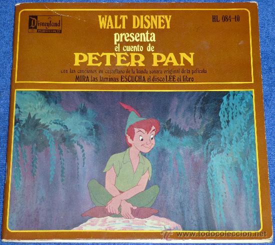 PETER PAN - HISPAVOX - WALT DISNEY - 1958 - CUENTO PARA LEER Y ESCUCHAR (Música - Discos - Singles Vinilo - Música Infantil)