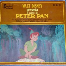Discos de vinilo: PETER PAN - HISPAVOX - WALT DISNEY - 1958 - CUENTO PARA LEER Y ESCUCHAR. Lote 32904636