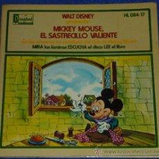 Discos de vinilo: MICKEY MOUSE - EL SASTRECILLO VALIENTE - HISPAVOX - WALT DISNEY - 1972 - CUENTO PARA LEER Y ESCUCHAR. Lote 32904674