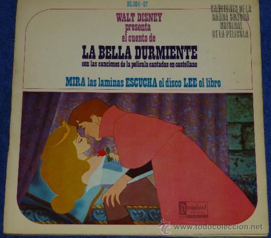 LA BELLA DURMIENTE - HISPAVOX - WALT DISNEY - 1968 - CUENTO PARA LEER Y ESCUCHAR (Música - Discos - Singles Vinilo - Música Infantil)