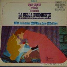 Discos de vinilo: LA BELLA DURMIENTE - HISPAVOX - WALT DISNEY - 1968 - CUENTO PARA LEER Y ESCUCHAR. Lote 32904696