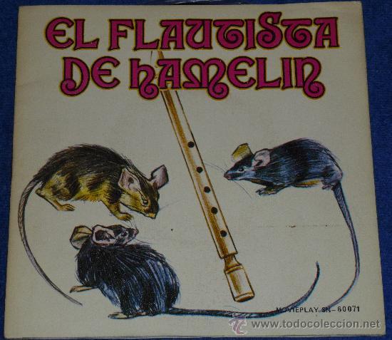 EL FLAUTISTA DE HAMELIN - MOVIEPLAY - 1972 - CUENTO PARA LEER Y ESCUCHAR (Música - Discos - Singles Vinilo - Música Infantil)