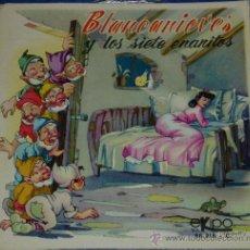 Discos de vinilo: BLANCANIEVES Y LOS SIETE ENANITOS - EKIPO - 1969 - CUENTO PARA LEER Y ESCUCHAR. Lote 32905246
