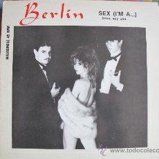 Discos de vinilo: MAXI - BERLIN - SEX (I'M A...) / INSTRUMENTAL VERSION - ORIGINAL ESPAÑOL, MERCURY RECORDS 1983. Lote 32915163