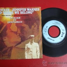 Discos de vinilo: SINGLE DE JOE COCKER Y JENNIFER WARNES: UP WHERE WE BELONG, ED. ISLAND 1982 REF_36. Lote 32921358