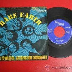 Discos de vinilo: SINGLE DE RARE EARTH: BORN TO WANDER/ SATISFACTION GUARANTEED, ED. TAMLA MOTOWN 1971 - REF_40. Lote 32921771