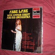 Discos de vinilo: ABBE LANE WITH XAVIER CUGAT AND HIS ORCHENTRA LP FONTANA 1962 ENGLAND VER FOTO ADICIONAL. Lote 32940680
